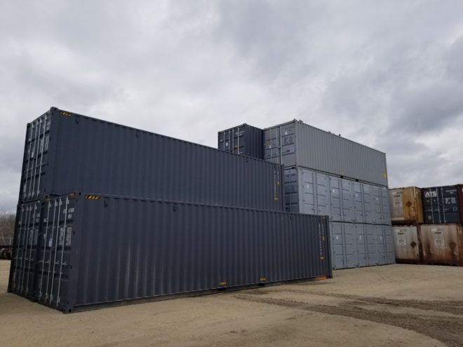 New 40′ High Cube Double Door Container
